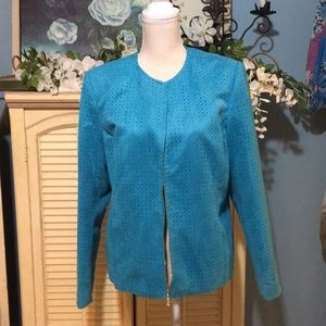 KORET suede like lined jacket with scarf 14
